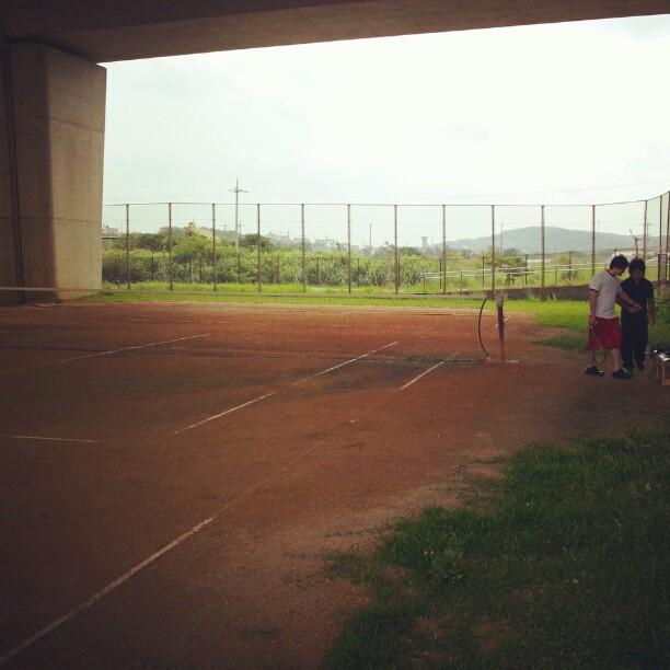 テニスした