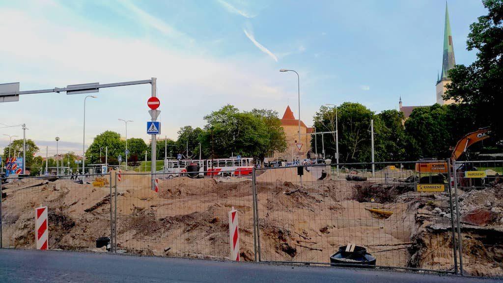 エストニアの建築現場