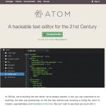 プログラミングにも文章記述にも使えるエディタAtomを導入しました